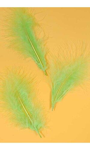 "7"" OSTRICH FEATHER APPLE GREEN PKG/50"
