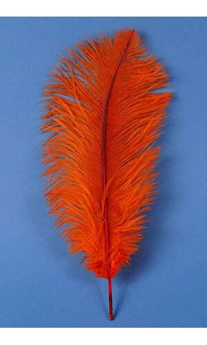 "14""-16"" OSTRICH FEATHER ORANGE PKG/12"