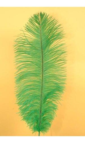 "14""-16"" OSTRICH FEATHER KELLY GREEN PKG/12"