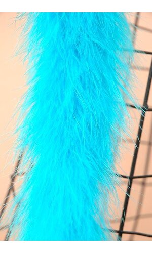 "72"" FEATHER MARABOU TURQUOISE"