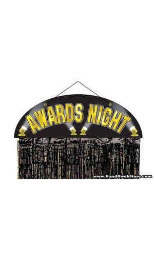 AWARDS NIGHT DOOR CURTAIN BLACK/GOLD