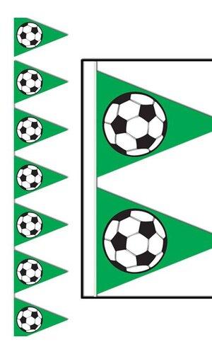 SOCCER BALL PENNANT BANNER GREEN/WHITE/BLACK