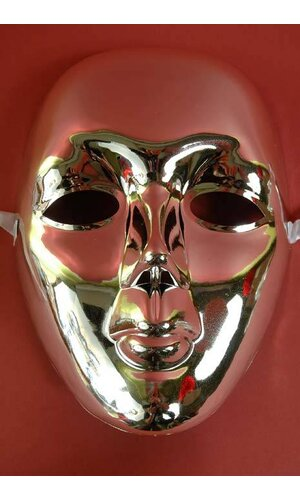 """6"""" X 8"""" WHOLE FACE MASK SILVER"""