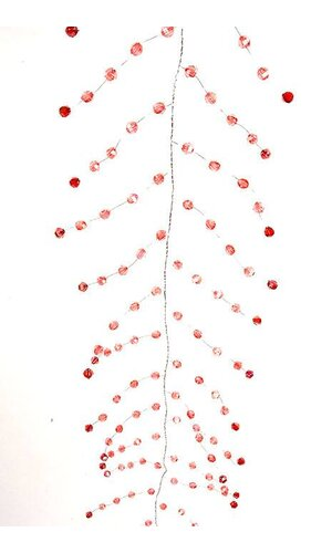 """48"""" IRIDESCENT BEADED GARLAND PINK/RED EA"""