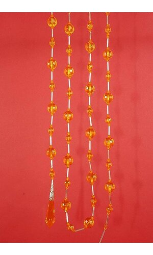 "72"" ACRYLIC ROUND FACTED BEAD GARLAND GOLD EA"